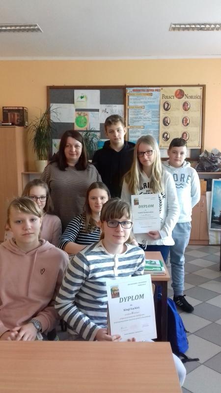 Klasowy konkurs czytelniczy w klasie siódmej