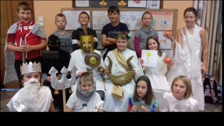 Olimp na lekcji języka polskiego w klasie V
