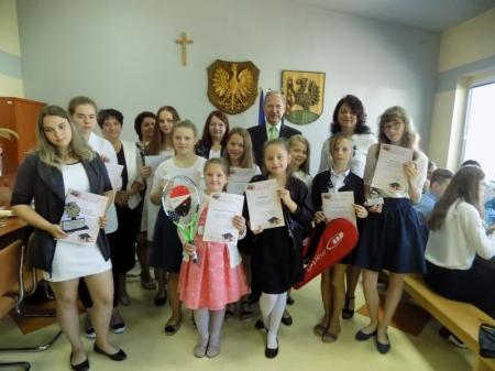 Spotkanie wyróżnionych uczniów z wójtem Gminy Lipnica