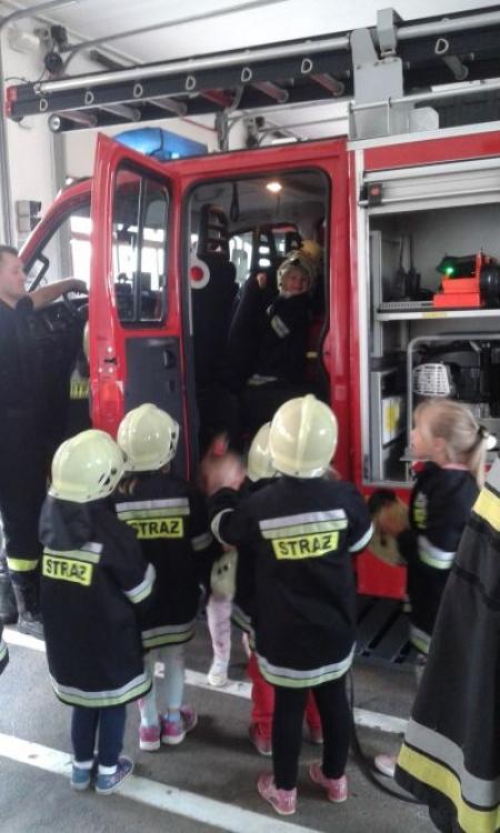 Odwiedziny w Straży Pożarnej